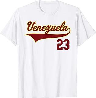 Venezuela Baseball T-Shirt Franela Vinotinto Beisbol 23