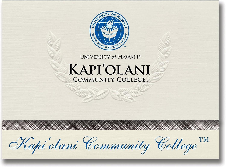 Signature Ankündigungen Universität Hawaii – Kapiolani Kapiolani Kapiolani Community College Graduation Ankündigungen, platin Stil, Elite Pack 20 mit Logo Farbe B0793JTY41    Viele Sorten  51423c