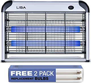 LiBa Bug Zapper & Electric Indoor Insect Killer Mosquito, Bug, Fly & Other Pests Killer – Powerful 2800V Grid 20W Bulbs – ...