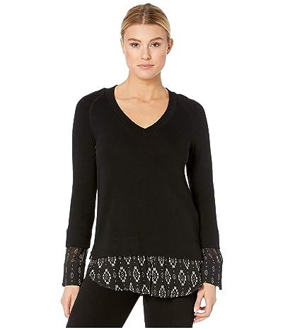 Karen Kane Contrast Hem Sweater (Black) Women