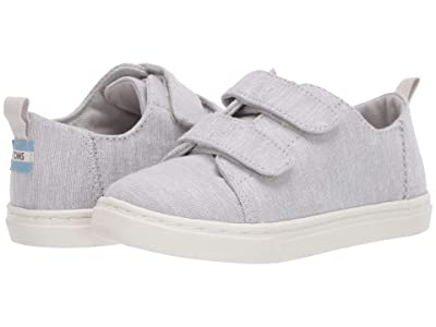 TOMS Kids Lenny Double Strap (Toddler/Little Kid) (Glacier Grey Intricate Chambray) Kid