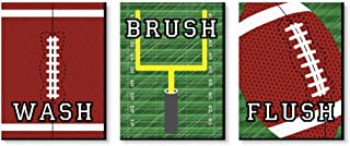 Big Dot of Happiness End Zone - Football - Sports Themed Nursery Wall Art, Kids Room Decor and Game Room Home Decorations - Christmas Gift Ideas - 7.5 x 10 inches - Set of 3 Prints