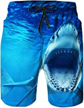 Leapparel Men's Funny Swim Trunks Quick Dry Summer Surf Beach Board Shorts with Mesh Lining/Side Pockets