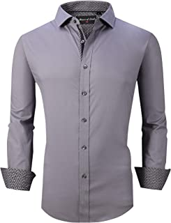 House of Lords Mens Dress Shirts Long Sleeve Regular Fit Casual Button Down Shirts