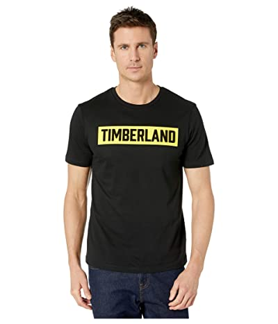 Timberland Brook 3-D Embossed T-Shirt (Black/Yellow) Men