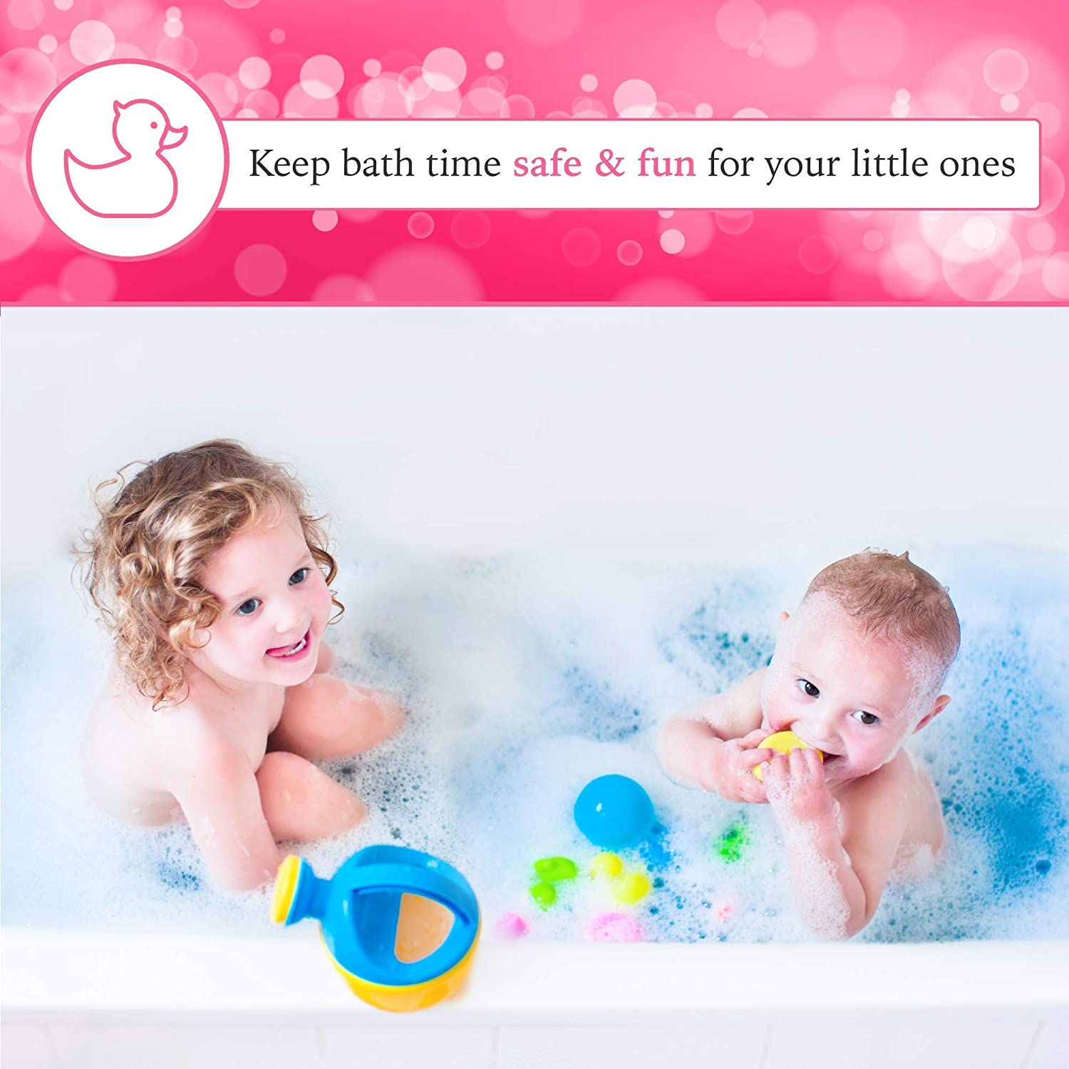 Aurelie Silicone Whale Tub Faucet Cover for Kids, Protective Baby Safety Products for the Bathtub Spout, Pink