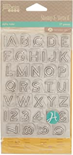 Hampton Art Jillibean Soup Stamp and Stencil Set, Alpha Ruler