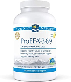 Nordic Naturals ProEFA 3-6-9, Lemon Flavor - 565 mg Omega-3 - 180 Soft Gels - EPA & DHA with Added GLA - Healthy Skin & Jo...