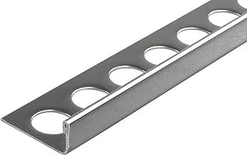 Fuchs tegelprofiel PREMIUM 10 x 2,5 m (=25m) roestvast staal glanzend 11 mm hoekprofiel afsluitprofiel tegel randbescherming