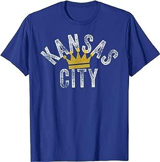 Kansas City Royal Blue KC Crown KC Vintage Local Fanware T-Shirt