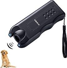 Frienda LED Ultrasonic Dog Repeller & Trainer Device 3 in 1 Anti Barking Stop Bark Handheld Dog Training Device (Black 2)