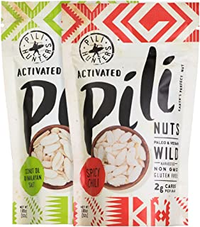 The Original Wild Sprouted Pili Nuts by Pili Hunters – Vegan & Keto Snacks Variety Pack in Coconut Oil and Spicy Chili Fla...