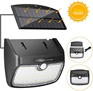 comprar comparacion Luz Solar Lámpara Solar Separada, SGODDE Sensor de Movimiento, Lámpara de Jardín Solar 48 LED Lámpara de Pared Solar Exter...