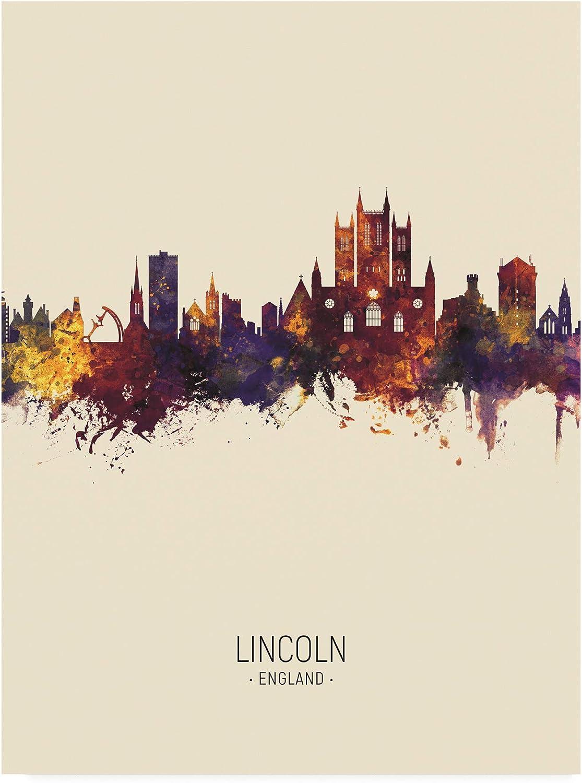 Trademark Fine Art Lincoln England Skyline Portrait III