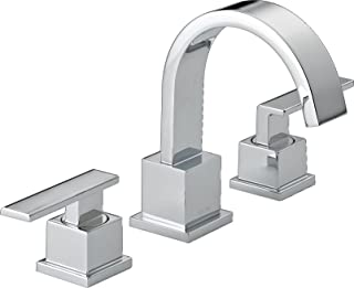 Delta Faucet Vero 2-Handle Widespread Bathroom Faucet with Metal Drain Assembly, Chrome 3553LF