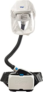 Dräger X-plore 8500 Powered Air-Purifying Respirator Kit, PAPR, NIOSH-Approved, IP 65, Short Hood L/XL (TH3-Approved), High Capacity Lithium Ion Battery, Flexible Breathing Hose
