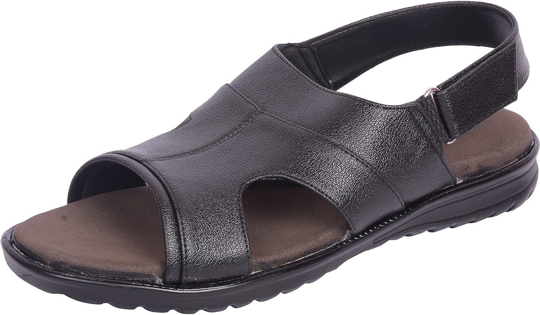 Vonzo Men schwarz Soft Heel Pain Doctor Sandal Sandal with Arch Heelpad 671  erstklassige Qualität