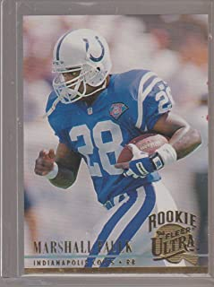 1994 Fleer Ultra Marshall Faulk Colts Rookie Football Card #408