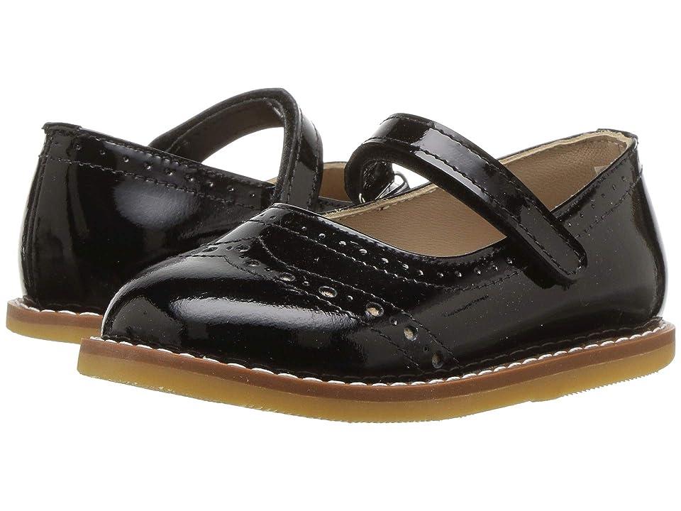 Elephantito Martina Flats (Toddler) (Patent Black) Girls Shoes