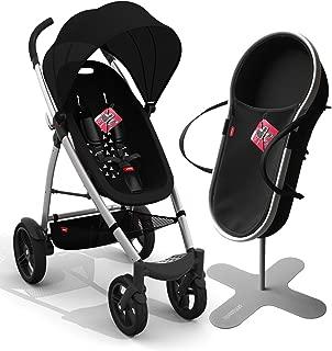 phil&teds Smart Buggy Bassinet and Stroller Bundle, Black (Discontinued by Manufacturer)