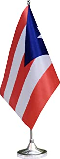 tibijoy Small Mini Puerto Rico Desk Flag, Puerto Rican Office Flag,Desk Flag,for Home Garden Office Decoration,Festival Events Celebration,Home Decoration,Office Decoration