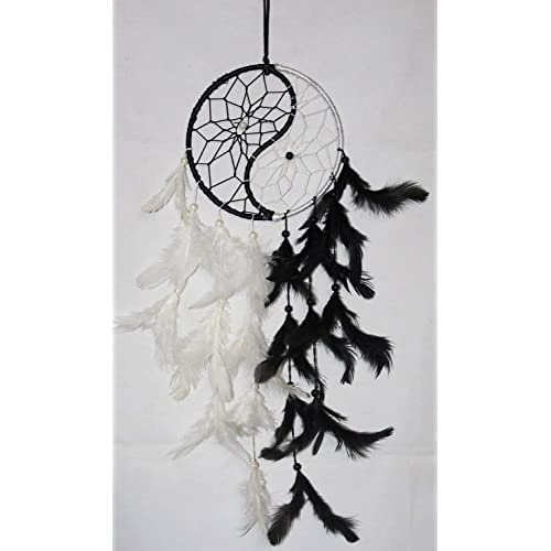 Odishabazaar Yin Yang Dream Catcher Wall Hanging - Attract Positive Dreams