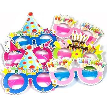 Evisha Happy Birthday Eyewear/Eye mask for Birthday Party/Birthday Return Gift Pack of 6