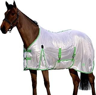 Saxon Mesh Gusset Belly Wrap Fly Sheet 78 White/Mi