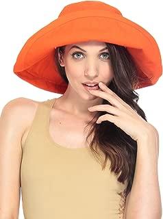 Lullaby Women UPF50+ Summer Beach Hat Wide Brim Foldable Sun Bucket Hat