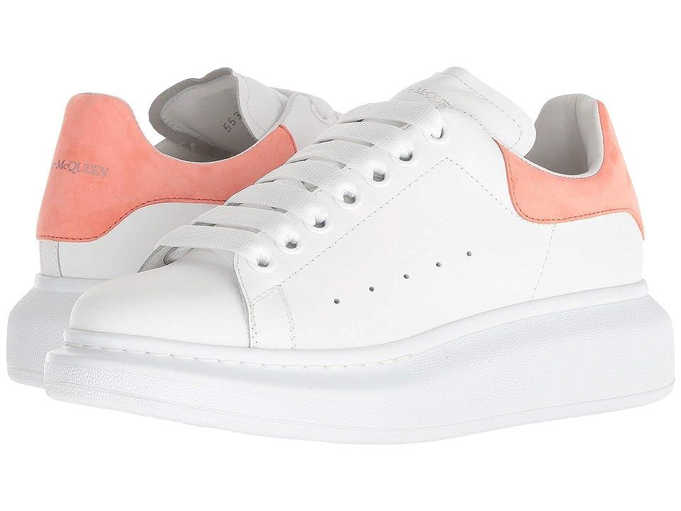 Alexander McQueen Oversized Sneaker (White/Peach) Women
