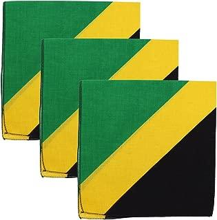 Motique Accessories Set of 3 Large Cotton Bandanas - Carribean Flags