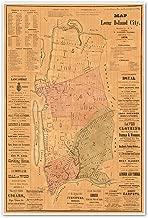 Antiguos Maps Long Island City, Queens County N.Y. Circa 1876 Measures 36