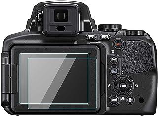 Nikon COOLPIX P900 P900S - Láminas protectoras de pantalla LCD para Nikon Coolpix P900 P900S (2 unidades 03 mm 9H cristal templado)