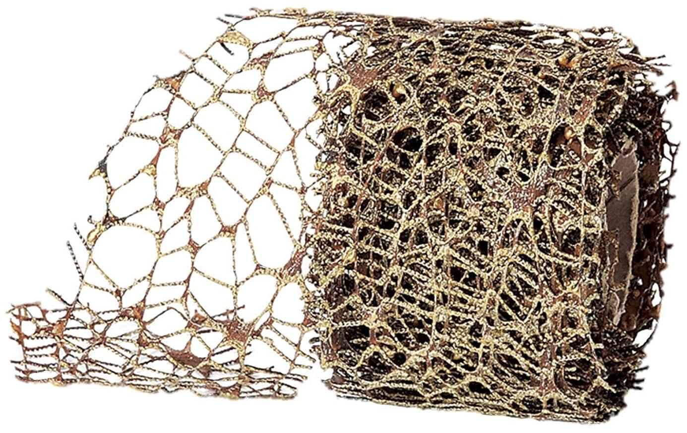 暴露引用受信asca オーナメントフレキシブルリボン 450×6.5cm ゴールドブラウン A-16752-040B