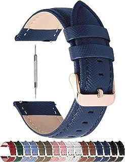 Fullmosa 14mm,16mm,18mm, 20mm, 22mm, 24mm Bracelet de Montre en cuir véritable, Cross Montre Bracelet Homme/Femme à Dégage...