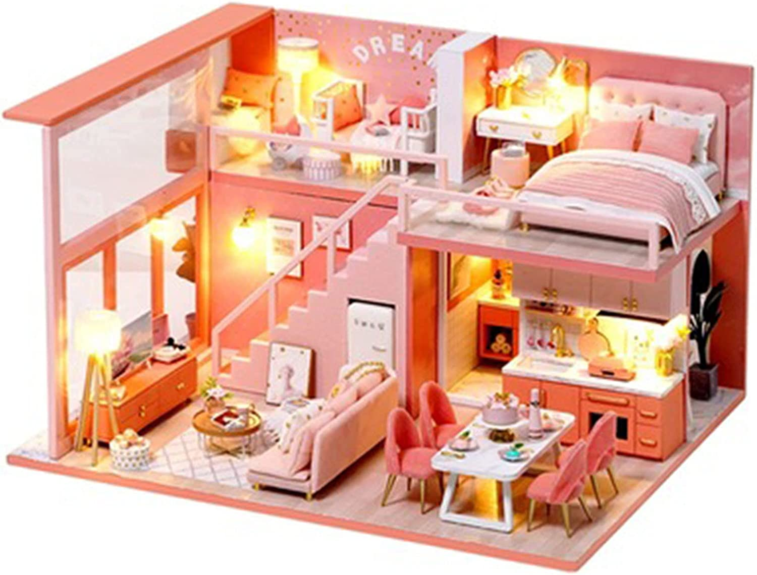 YXLYLL Ranking TOP11 Super beauty product restock quality top House Handmade DIY Assembled Sweet Angel Model Attic Wood