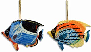 LX Hand Painted Ocean Creature Ornament Tropical Fish 4