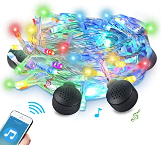 ABLEGRID LED String Light with Bluetooth Speakers, 70LED 33ft 8 Modes Color-Changing Christmas String Lights for Birthday, Festival, Wedding, Party Decorate Indoors & Outdoors