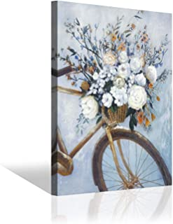 bike with flowers painting