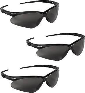 Jackson Safety V30 22475 Nemesis Safety Glasses 3020121 (3 Pair) (Black Frame with Smoke..