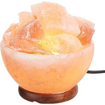 Mogul Cylinder Shaped Nightlight Himalayan Pink Salt Lamp Mogul Foods