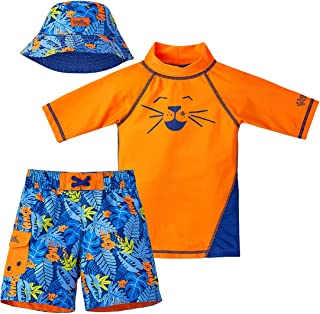 UV SKINZ Boys' 3-Piece Swim Set, UPF 50+ Sun Protection