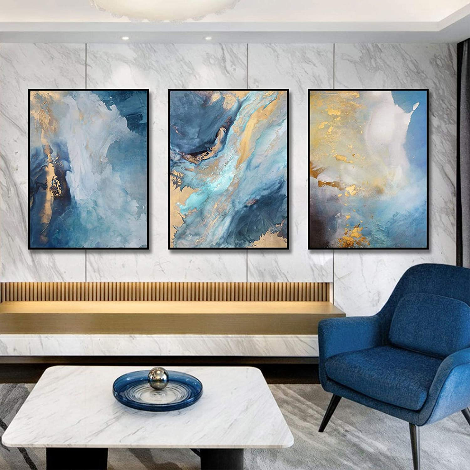 Abstract Combination Manufacturer direct delivery Canvas Painting Print Gold Super sale period limited Paintings