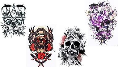 Doodshoofd tatoeages 4 vellen Skull 4 nieuwe festi...