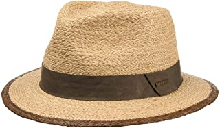 Made in Ecuador de Paja Panam/á Traveller con Banda Grosgrain Primavera//Verano Stetson Sombrero Panam/á Jefferson Hombre