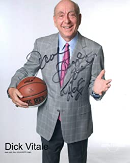 Signed Dick Vitale Photograph - 8x10 COLOR +COA BASKETBALL LEGEND TO DAVE - Autographed College Photos