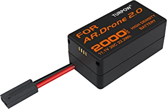 TURPOW 11.1V 2000mah Upgrade Replacement Battery Compatible with Parrot Ar.Drone 2.0 Power Edition Helicopter