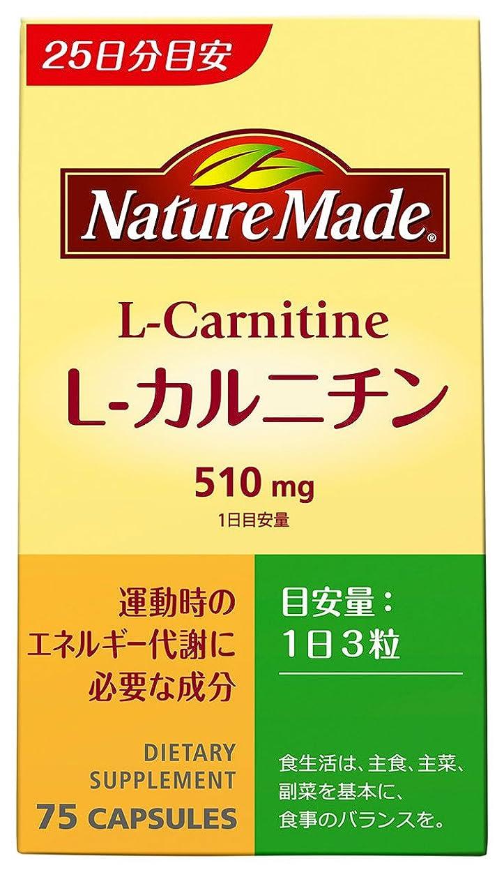 孤独声を出してフィルタ大塚製薬 ネイチャーメイド L-カルニチン 75粒