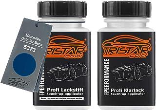 TRISTARcolor Autolack Lackstift Set für Mercedes/Daimler Benz 5373 Atlantisblau/Atlantis Blue Basislack Klarlack je 50ml
