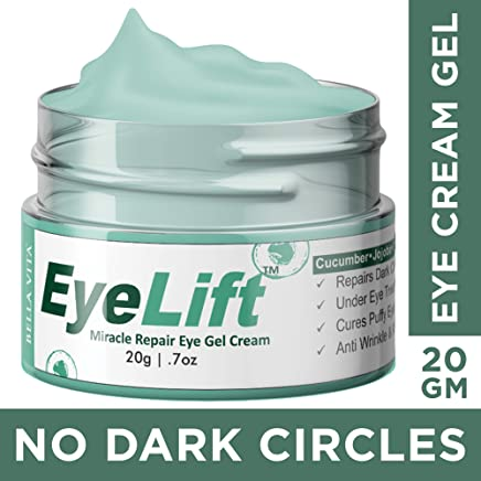 Bella Vita Organic EyeLift Eye Cream Gel for Dark Circles, Puffy Eyes, Wrinkles & Removal Of Fine Lines for Women & Men, 20gms